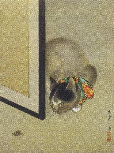 6th_grade_cat_and_spider_japanese_meiji_period