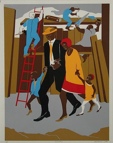 8th_grade_the_builders_family_by_jacob_lawrence_in_1974