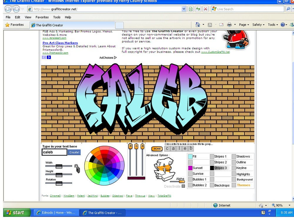 Can you make graffiti without spray paint use this graffiti creator