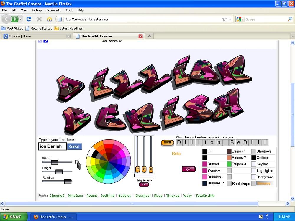 Graffiti creator middle school art online amp creative writing